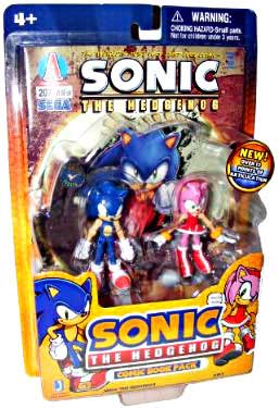 Toyglobe Com 3 Inch Sonic The Hedgehog 2 Pack Sonic And Amy